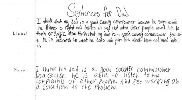 Sentences for dad