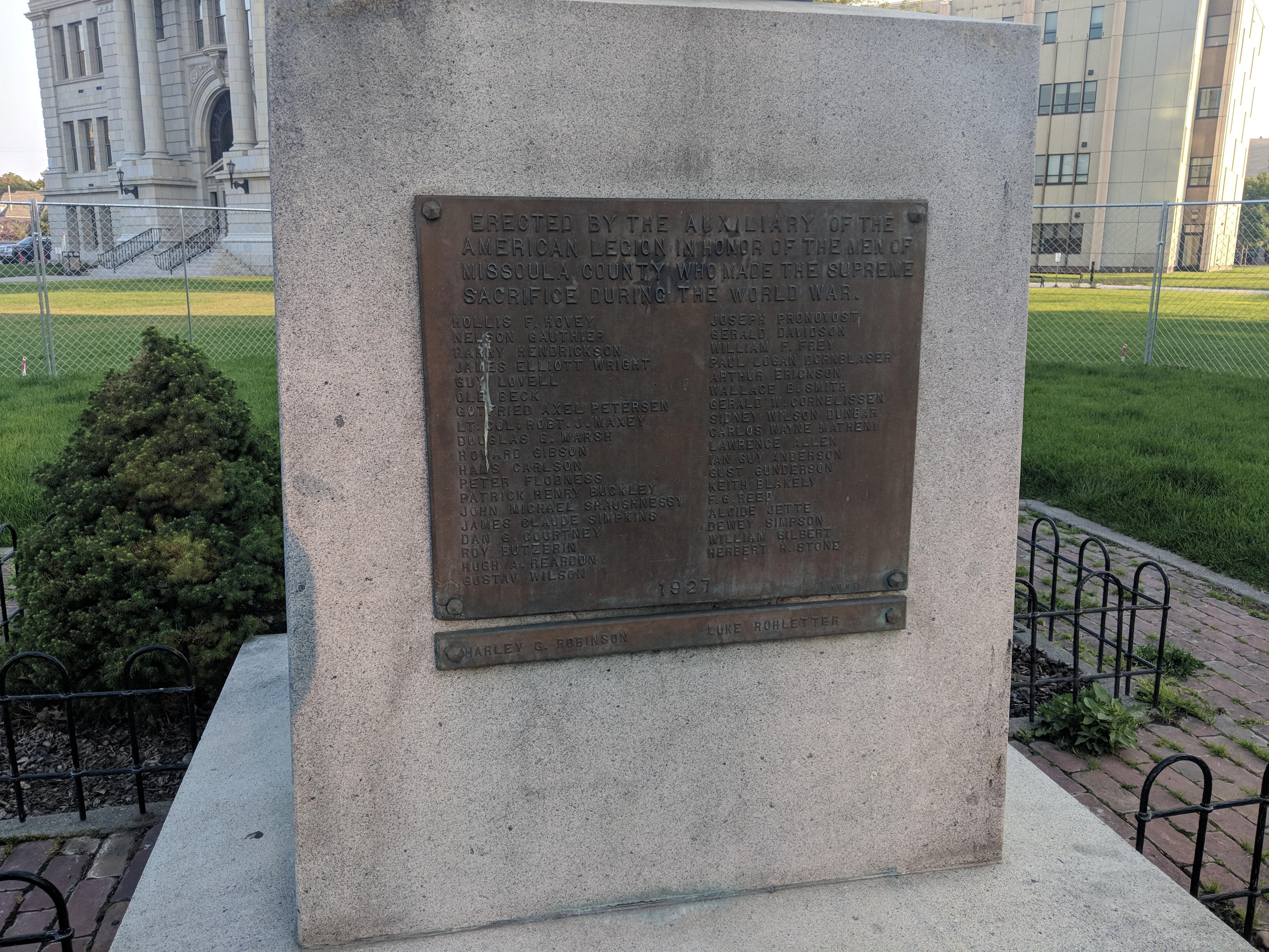 Doughboy plaque