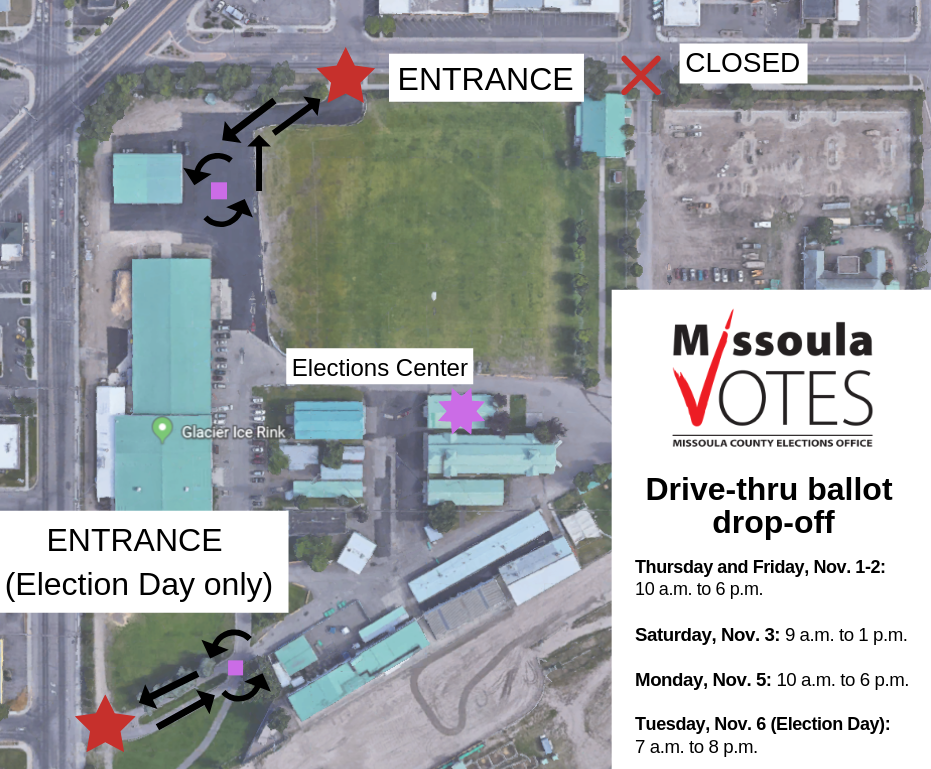 Drive-thru ballot drop-off